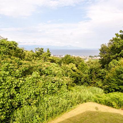 琵琶湖西岸の家からの眺め