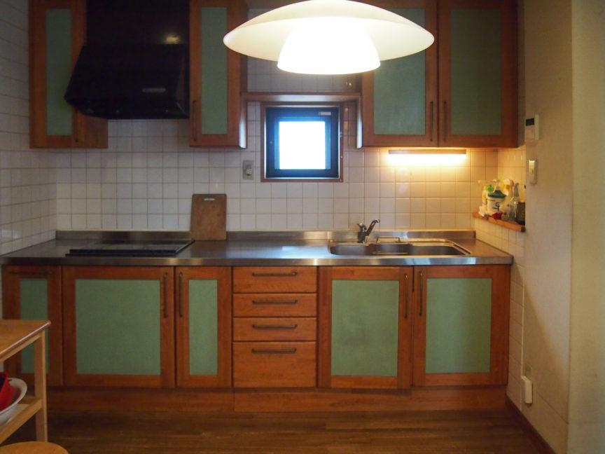 ひのき製の台所